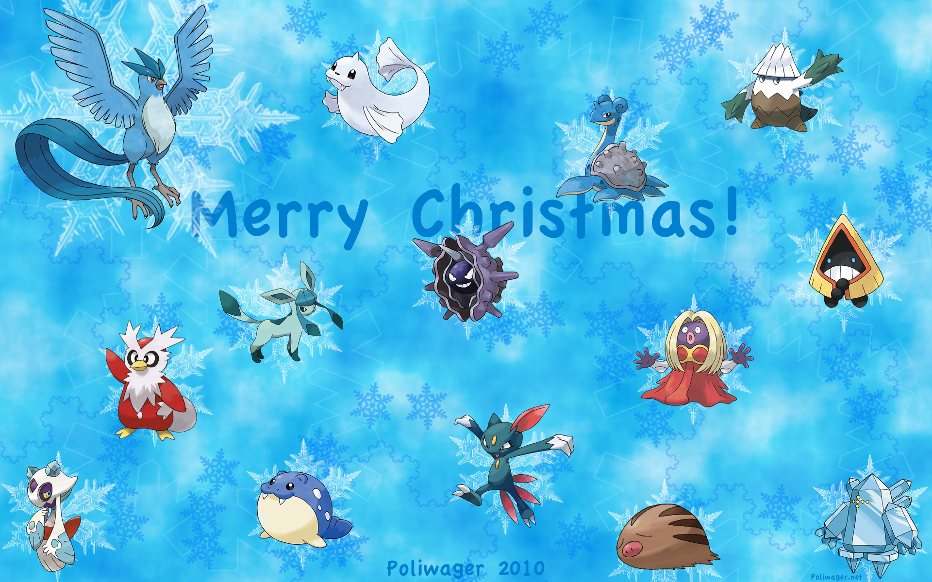 Pokemon Christmas Wallpaper 2012